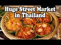 Street Food & Shopping at a Huge Street Market in Thailand. Thai Street Food in Nakhon Si Thammarat