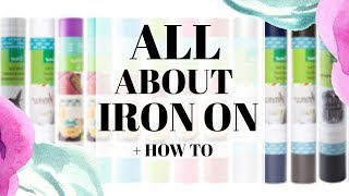 All about Iron on - HTV + How to use it