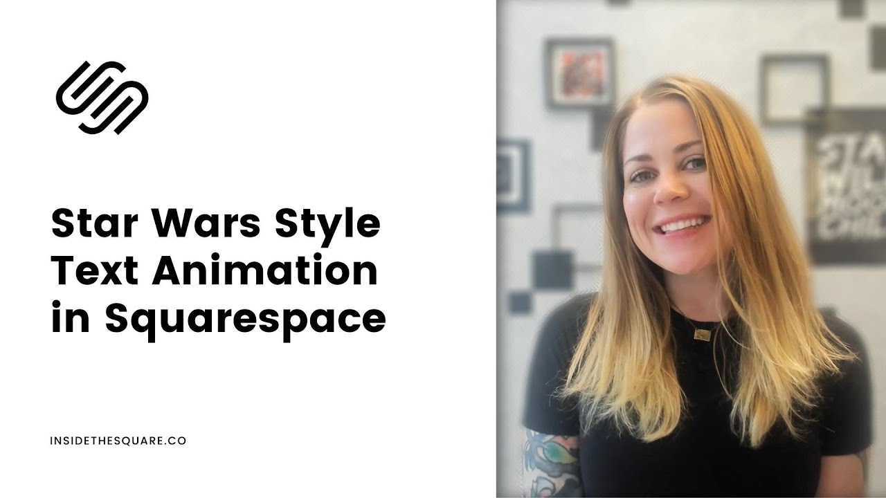 How to create a Star Wars style text animation in Squarespace // Squarespace CSS Tutorial