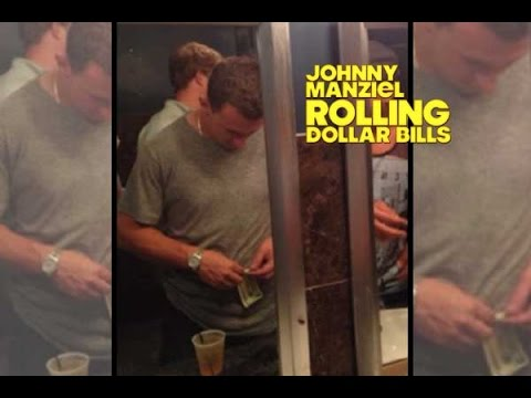 Johnny Manziel Dollar Bill Bathroom