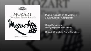 Piano Sonata in C Major, K. 330/300h: III. Allegretto