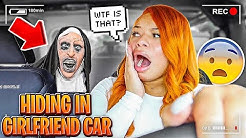 """HIDING In My Girlfriend's CAR While She """"RUNS ERRANDS!"""" **SHE DIDNT EXPECT THIS**"""