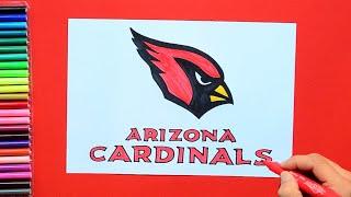 How to draw the Arizona Cardinals logo [NFL team]
