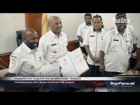 Penandatanganan MoU Pemerintah Kabupaten Mamberamo Tengah Dengan Pemerintah Kota Jayapura