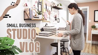 Small Business Studio Vlog | Group sale prep & office organization!
