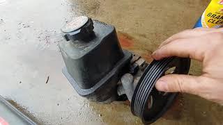 Chevy trailblazer power steering pump replacement