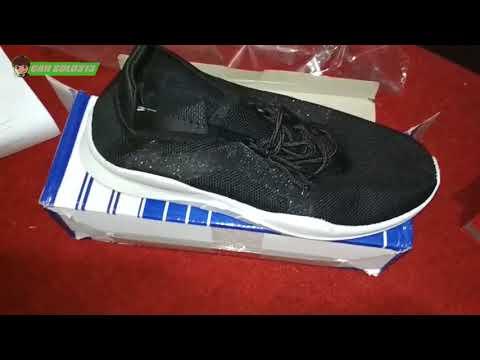 Unboxing Sepatu Dr Kevin sneakers 43325   black