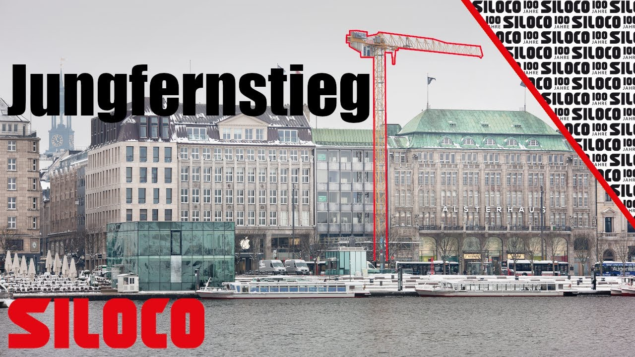 Youtube Video: Siloco Kranaufbau Jungfernstieg Hamburg
