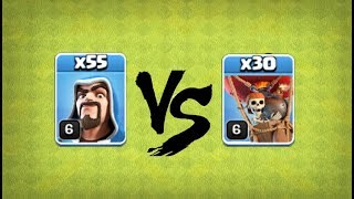 55 Wizards Level 6 Vs 30 Balloons Level 6 In COC, Clash of clans Attacks, Builder Base