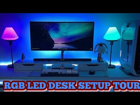 How To Make Desk Setup By Rgb Led Light