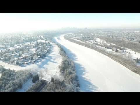 Edmonton on January 25, 2017.  Beautiful frost on the trees.