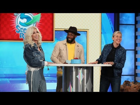 Ellen & Cher Sing 'If I Could Turn Back Time' During '5 Second Rule'