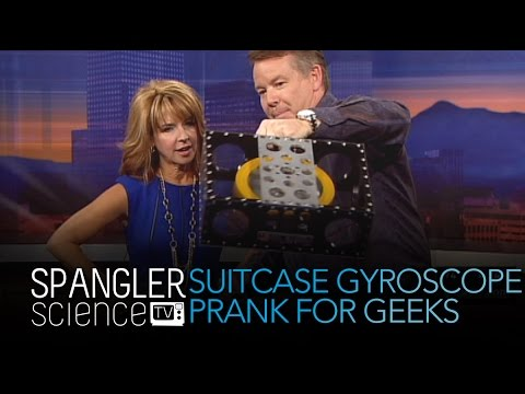 Suitcase Gyroscope Prank for Geeks - Cool Science Experiment