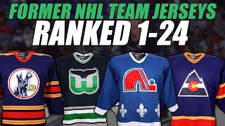 Former NHL Teams Jerseys Ranked 1-24