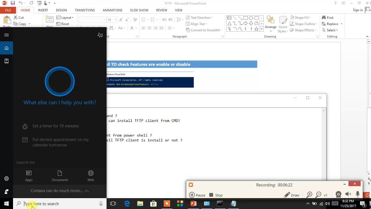 TFTP Client Installation GUI ,CUI ,Power Shell In windows 10 - YouTube