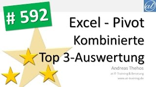 Excel # 592 - Pivot - Top 3 Produkte der Top 3 Wettbewerber anzeigen