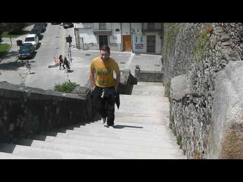 Walking the town walls at Lugo, Spain (June 2017)