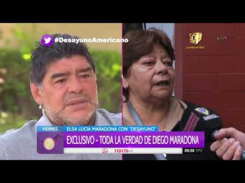 La cara de Elsa Maradona, la hermana de Diego, cuando le preguntaron por la boda con Rocío Oliva