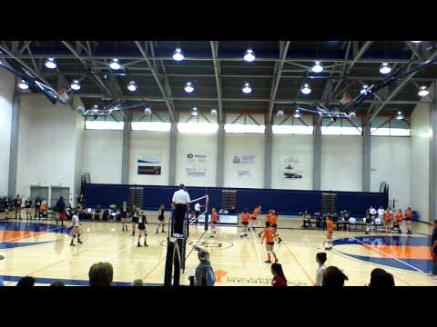 COS volleyball at home vs Reedley College game 1 10/01/2014