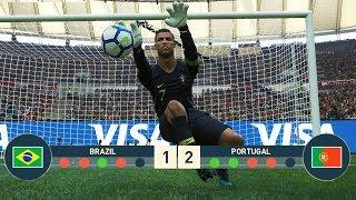 PES 2019   C.RONALDO Goalkeeper vs J.NEYMAR Goalkeeper   Penalty Shootout [ PORTUGAL VS BRAZIL ]