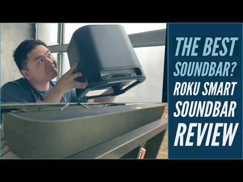 WORLD'S 1ST 2-in-1 SMART SOUNDBAR: ROKU Smart Soundbar Review Integrated 4K Roku, Wireless Subwoofer