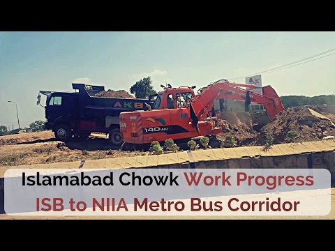 Work at Islamabad Chowk for ISB to new Airport Metro Bus Corridor