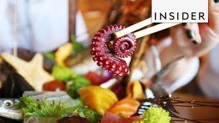 Chef Turns Sashimi into Art