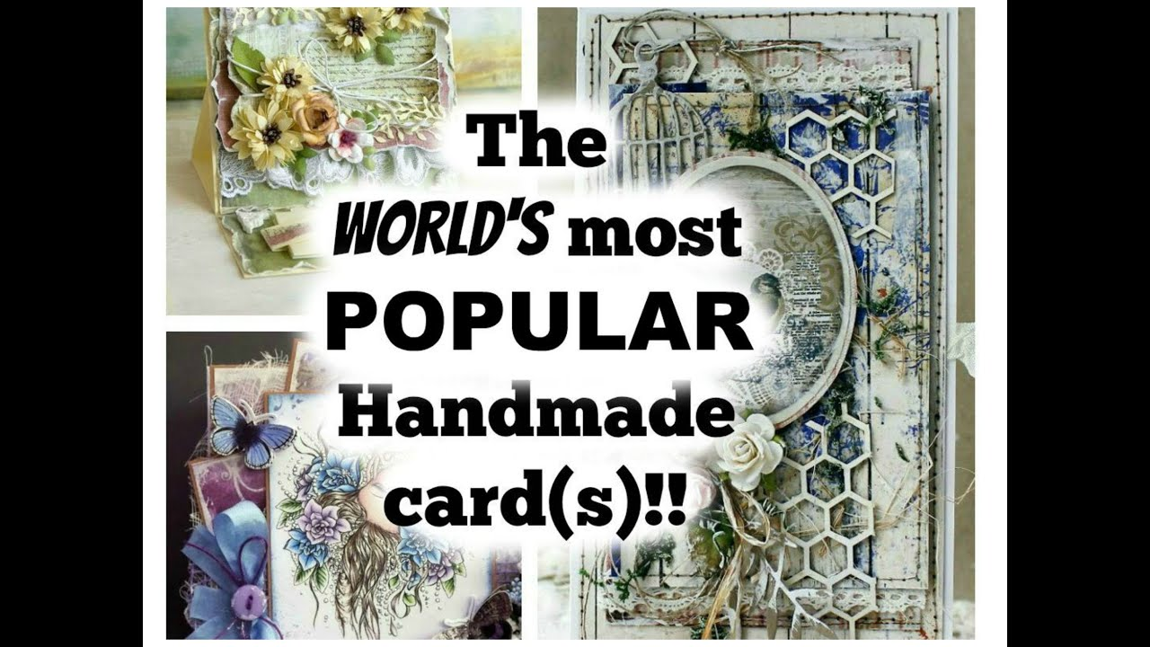 Famous Handmade Cards on Pinterest, 2015! - YouTube