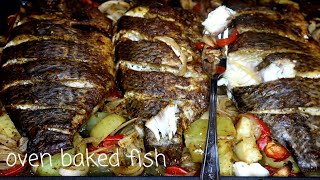 The best oven baĸed fish with home made wet seasoning