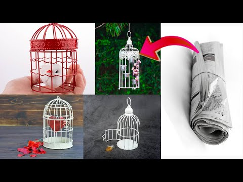 How to make Newspaper Bird Cage |news paper bird cage making ideas,bird cage |sd something different