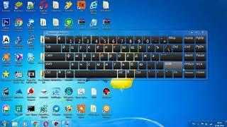 экранная клавиатура в Windows 7