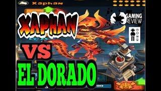 Clash of Lords 2 -  XAPHAN FIRE DEMON GOD Maxed Enlightened vs El Dorado How Far Will He Go?
