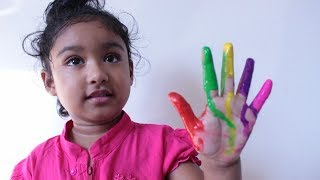 Funny Baby Finger Paint & Kids Song by Rufi Ishfi
