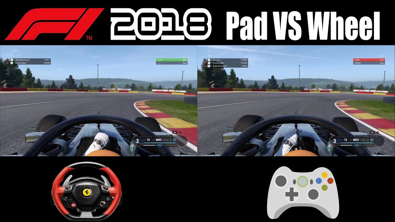 F1 2018 Pad vs Wheel