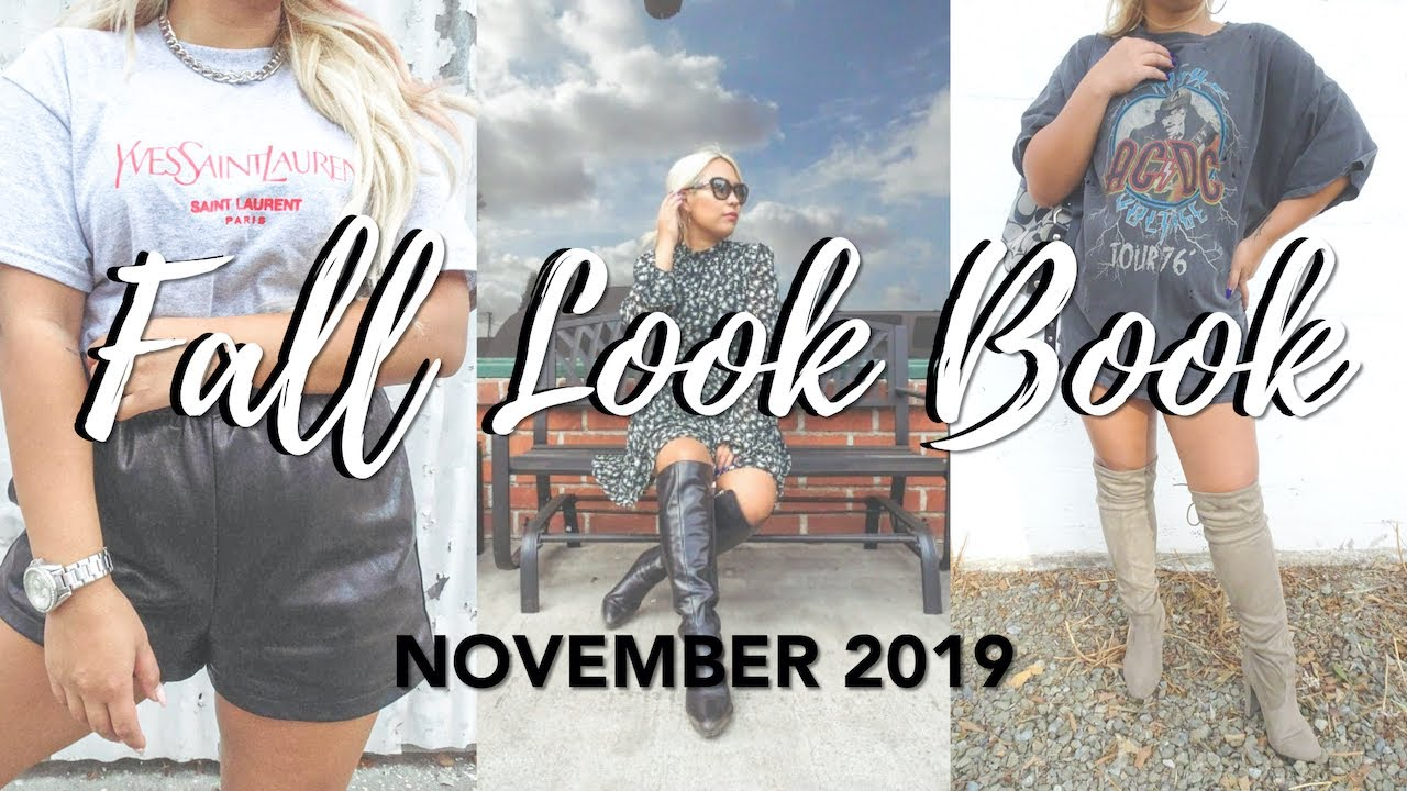 [VIDEO] - NOVEMBER LOOK BOOK | Affordable Fall 2019 Outfit Ideas 2