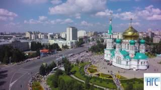 Аэросъемка Омска в день 300-летия