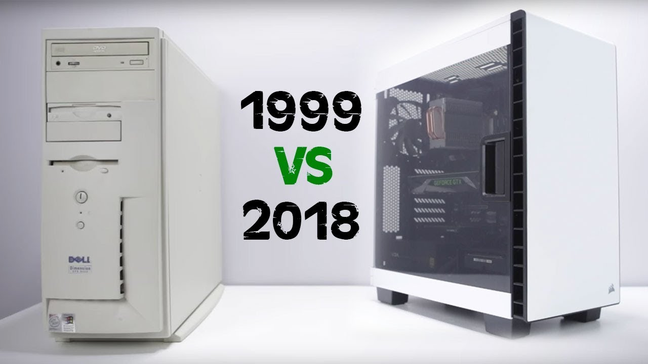 a 1999 pc vs 2018 gaming pc youtube. Black Bedroom Furniture Sets. Home Design Ideas