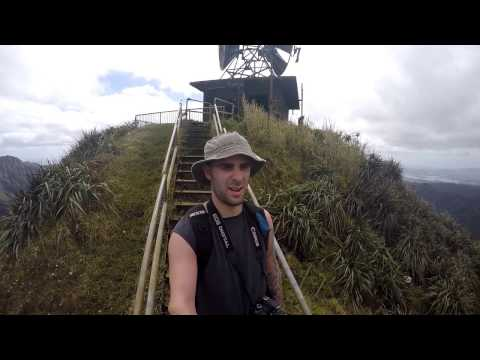 Haiku Stairs (Stairway To Heaven) (Amazing) GoPro HD Hawaii - Oahu - Feb. 2017