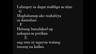Gloc 9 - Takip Silim Feat. Regine Velasquez-Alcasid Lyrics And Chords On Screen