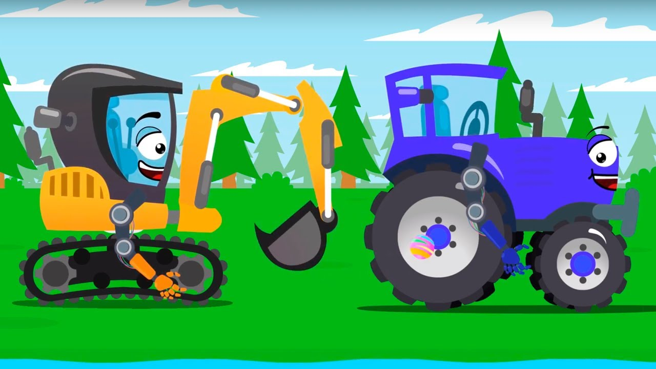 Traktor i Koparka gubią piłkę – Cars Stories – Bajki dla Dzieci