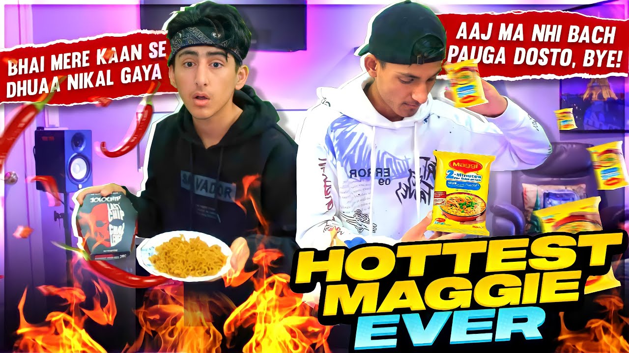 Hottest Maggie Ever 🥵 Challenge Jolo Chip Vs Hottest Maggie A_s Gaming - Garena Free Fire