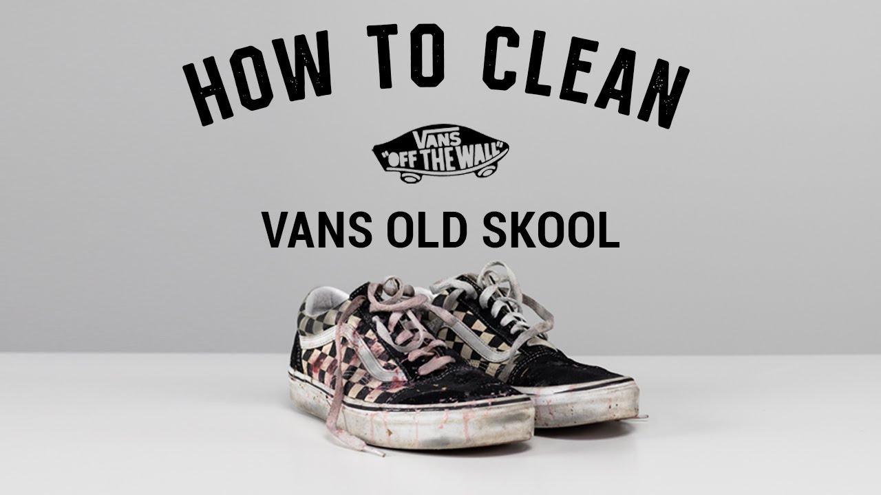 How to clean Old School Vans YouTube
