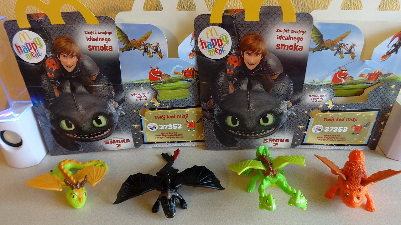 Coll 1 2014 Mcdonald S How To Train Your Dragon 2 Movie Happy Meal Toys Unboxing Youtube