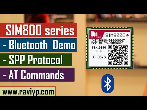 SIM800 series Bluetooth AT commmands - Live Demo - YouTube