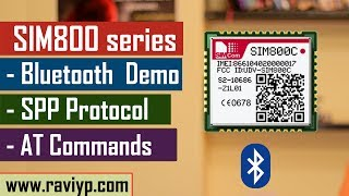 SIM800 series Bluetooth AT commmands - Live Demo Video
