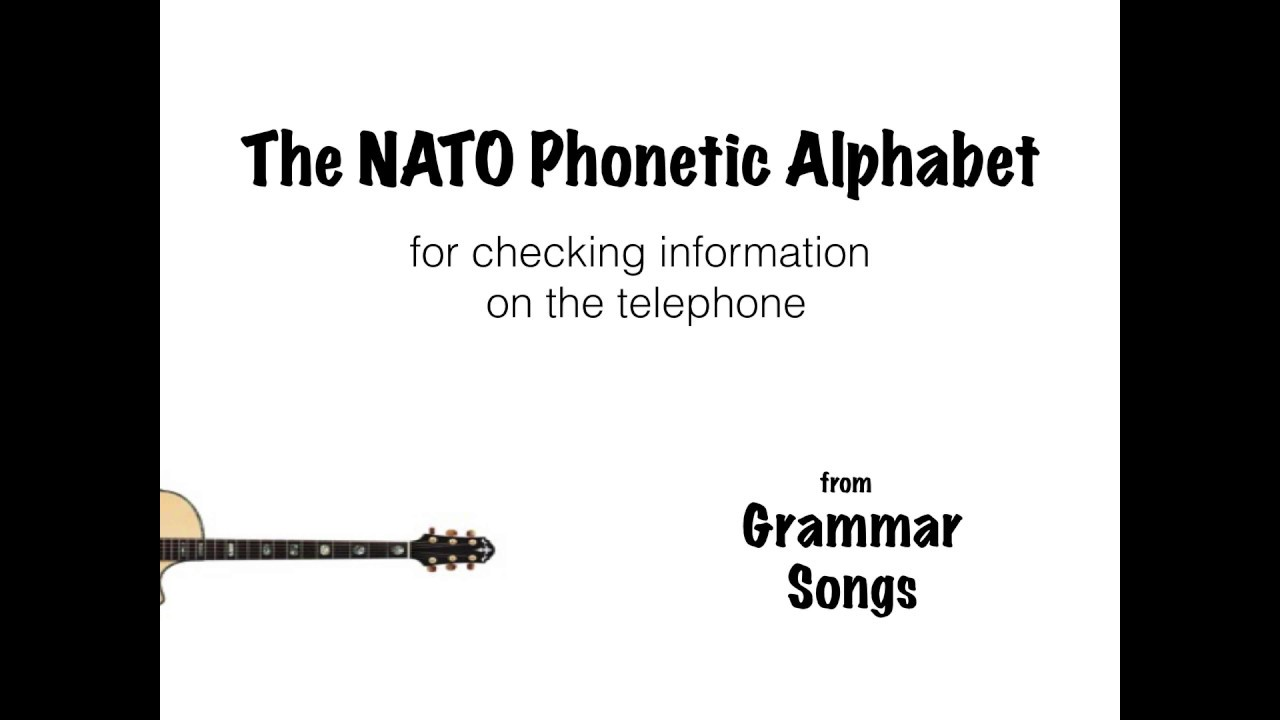 Nato Phonetic Alphabet Song Youtube