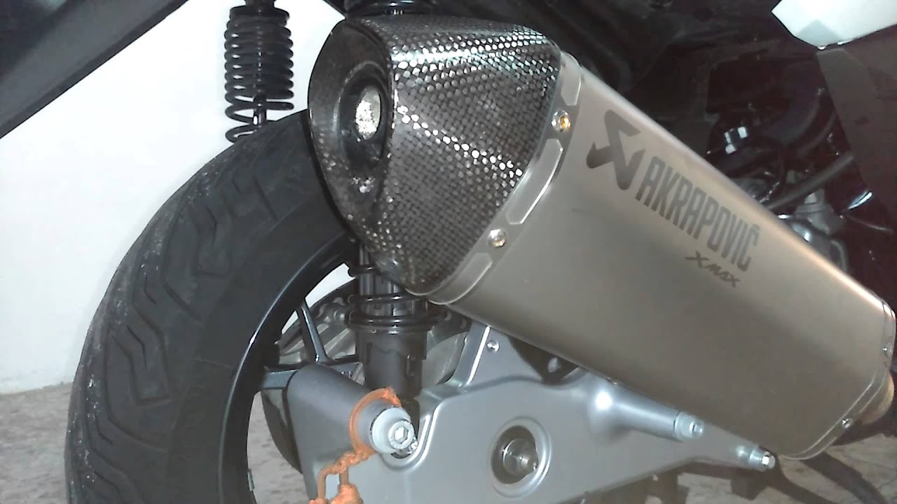 akrapovic for yamaha x max with db killer youtube. Black Bedroom Furniture Sets. Home Design Ideas