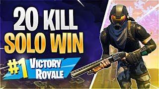 20 KILL SOLO WIN! (Fortnite Battle Royale)