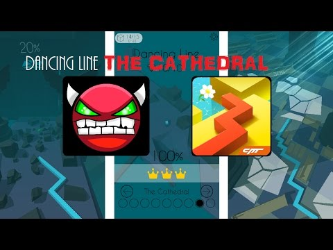 [HARD] Dancing Line - The Cathedral 100% All Gems Done
