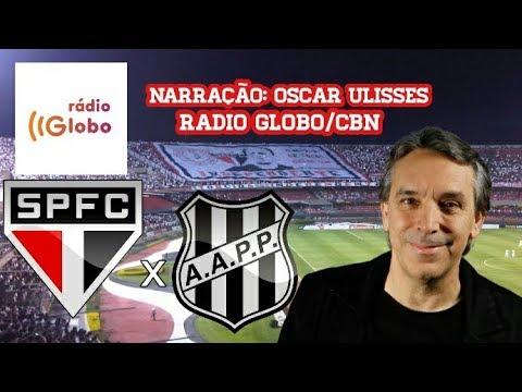 Gols De São Paulo 2 x 2 Ponte Preta - Oscar Ulisses - Rádio Globo/CBN - 09/09/2017